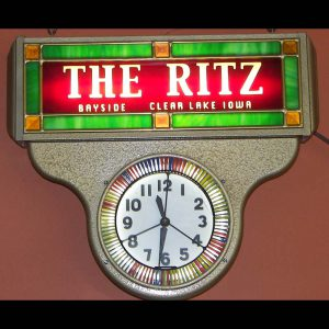 The Ritz Neon Spinner Clock