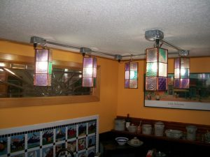 Kitchen Lanterns with Copper Frame