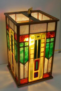 Fused glass Lantern.