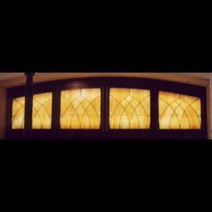 Music Man Square High School Transom Window. Mason City, Iowa.
