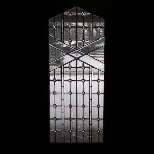 Beveled Front Door Window